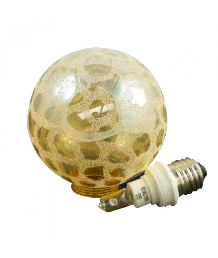 100mm Small Leopard Print Globe With Bulb