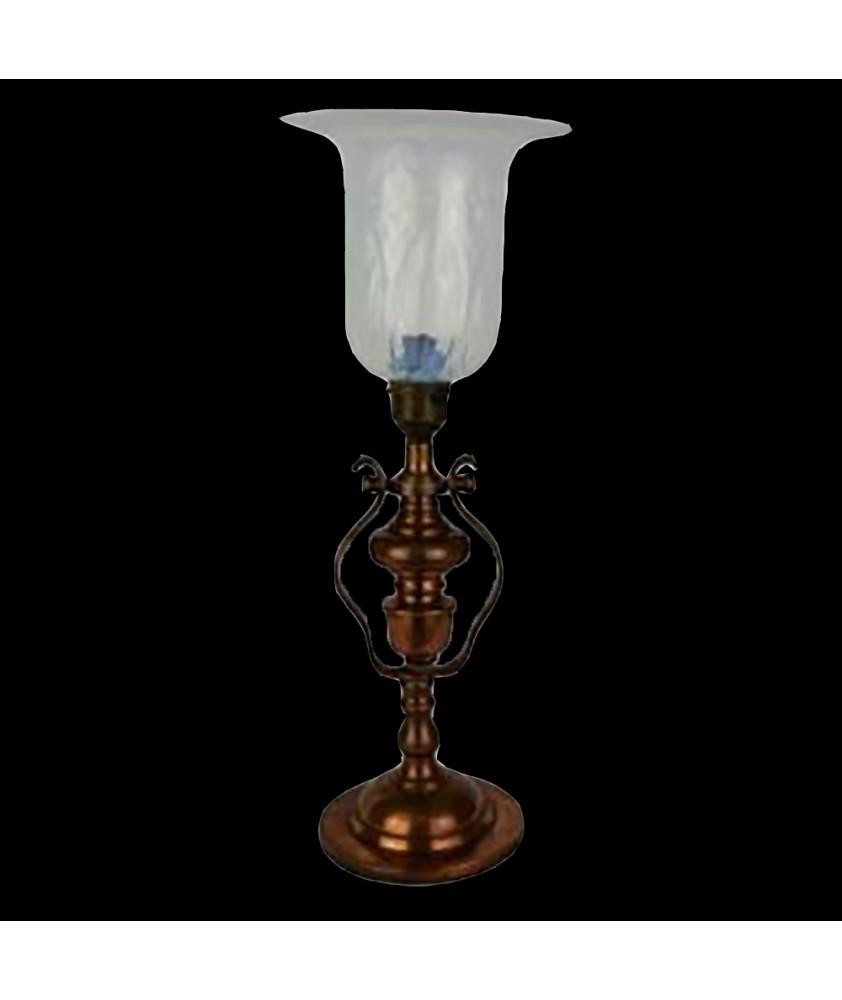 20th Century Brass Gimbal Lamp