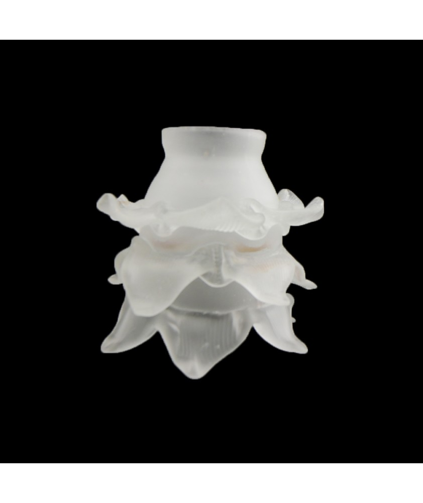 Satin Frilled Tulip Light Shade With 55mm Fitter Neck