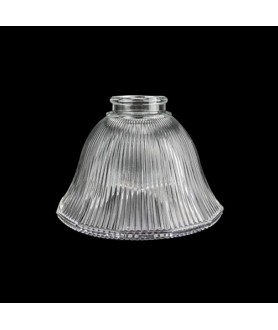 Prismatic Bell Light Shade with 57mm Fitter Neck (Clear or Frosted)