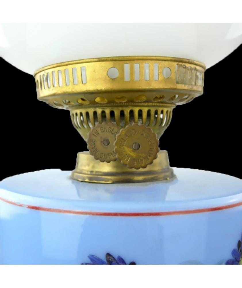 Duplex Oil Lamp with Floral Font