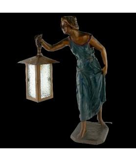 Art Nouveau Lady with a Lantern