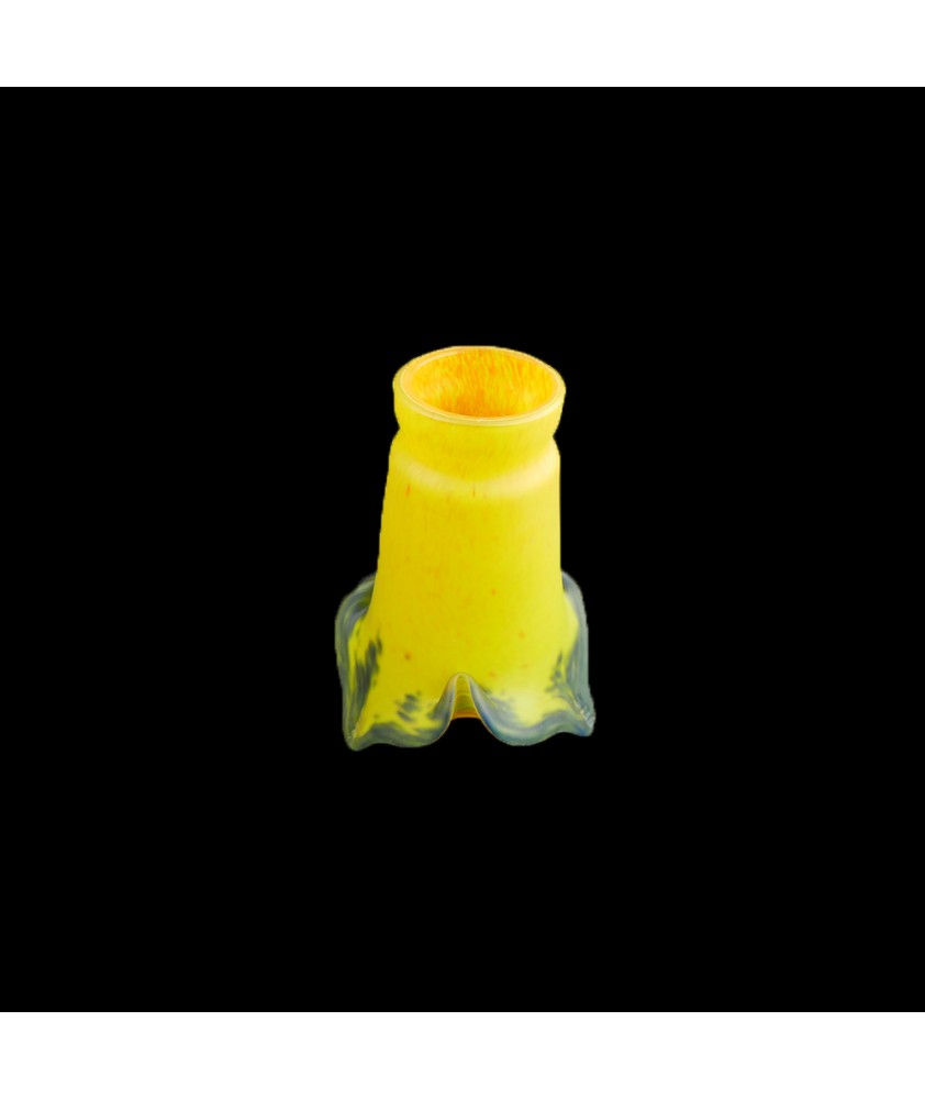 Yellow Pate De Verre Tulip Shade with 53mm Fitter Neck