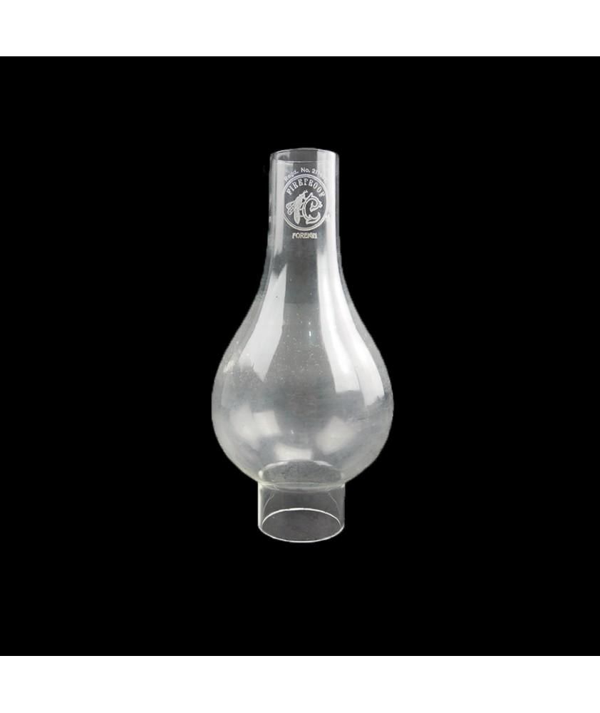 Original Bulge Oil Lamp Chimney 43mm Base