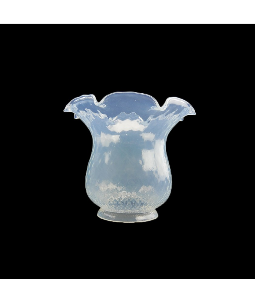 Opalescent Oil Lamp Shade with 100mm Base