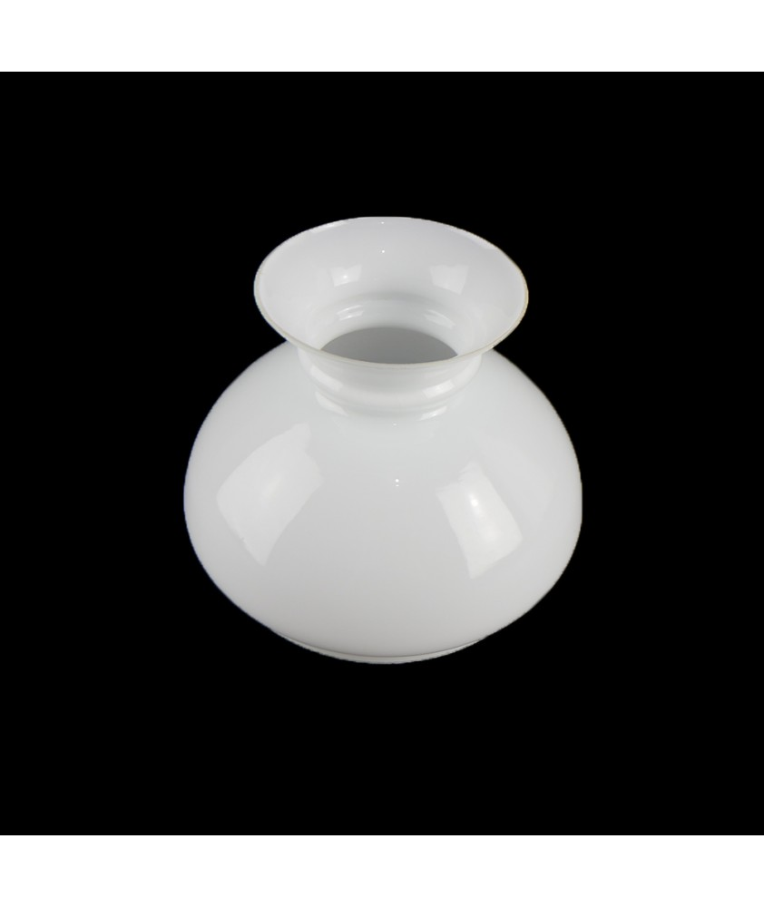 137mm Base Opal Vesta Oil Lamp Shade