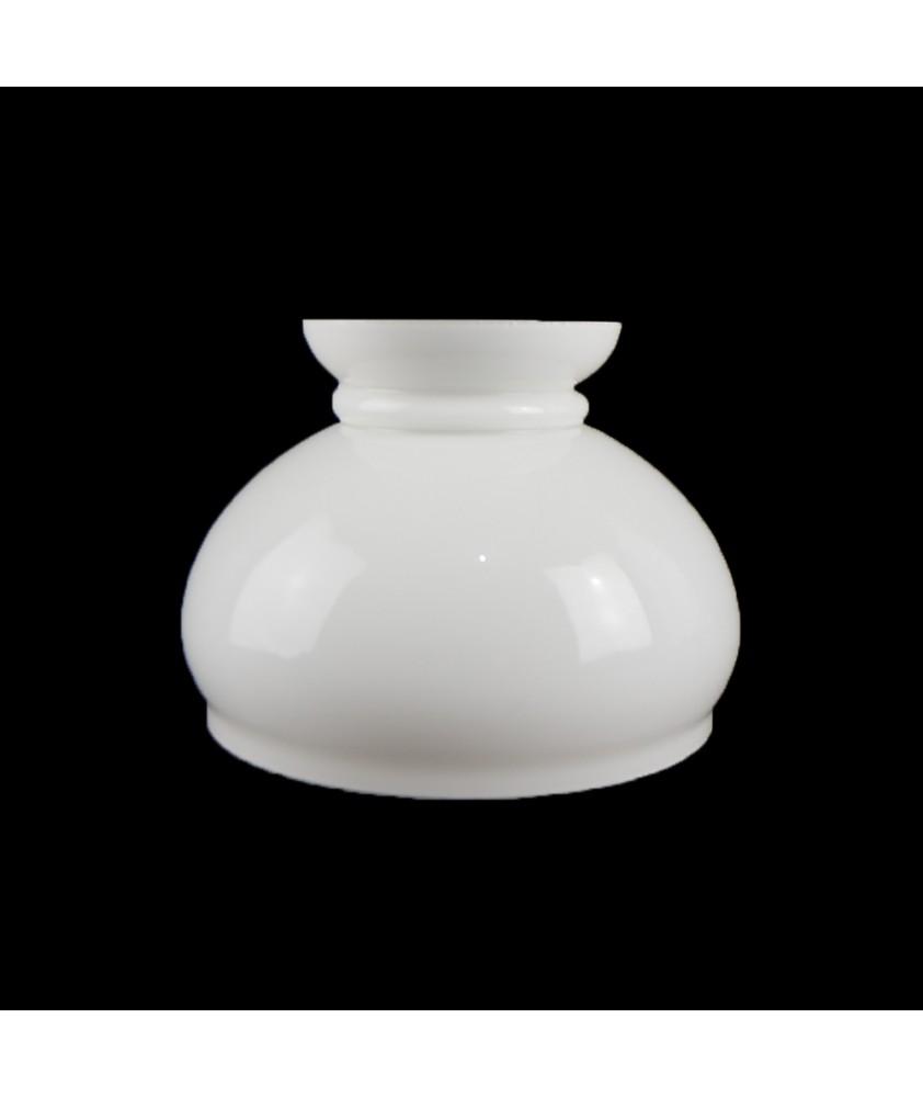 130mm Opal Vesta Oil Lamp Shade