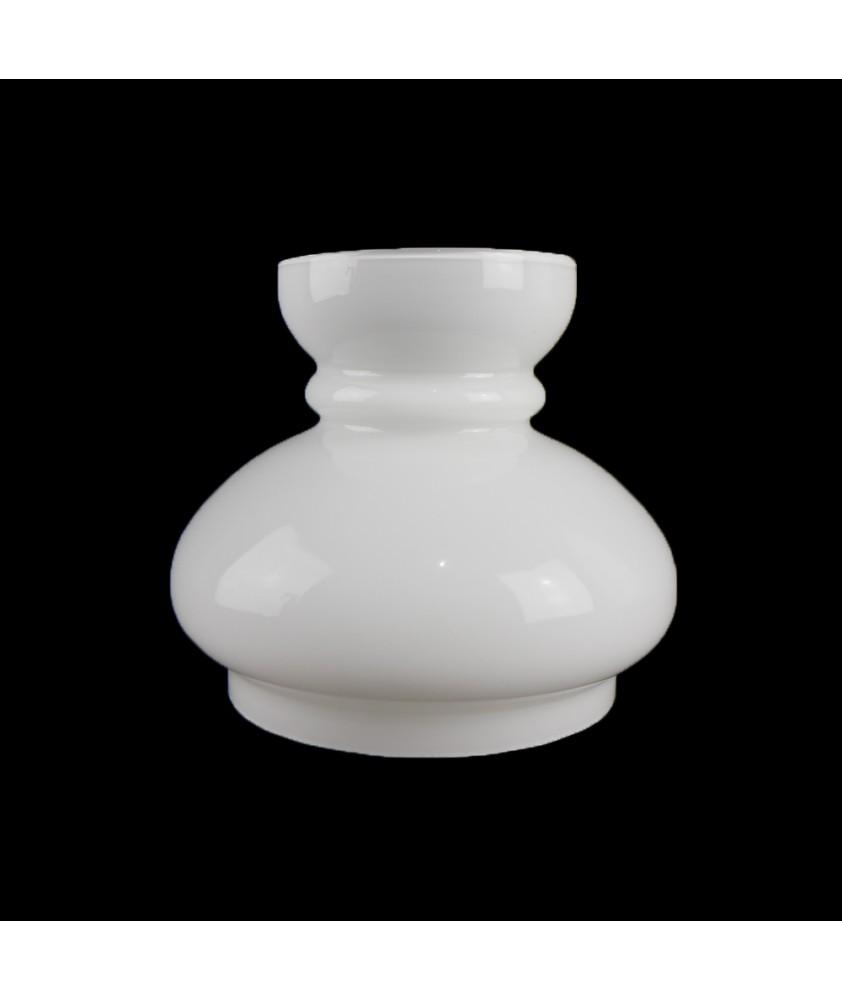 147mm Opal Vesta Oil Lamp Shade