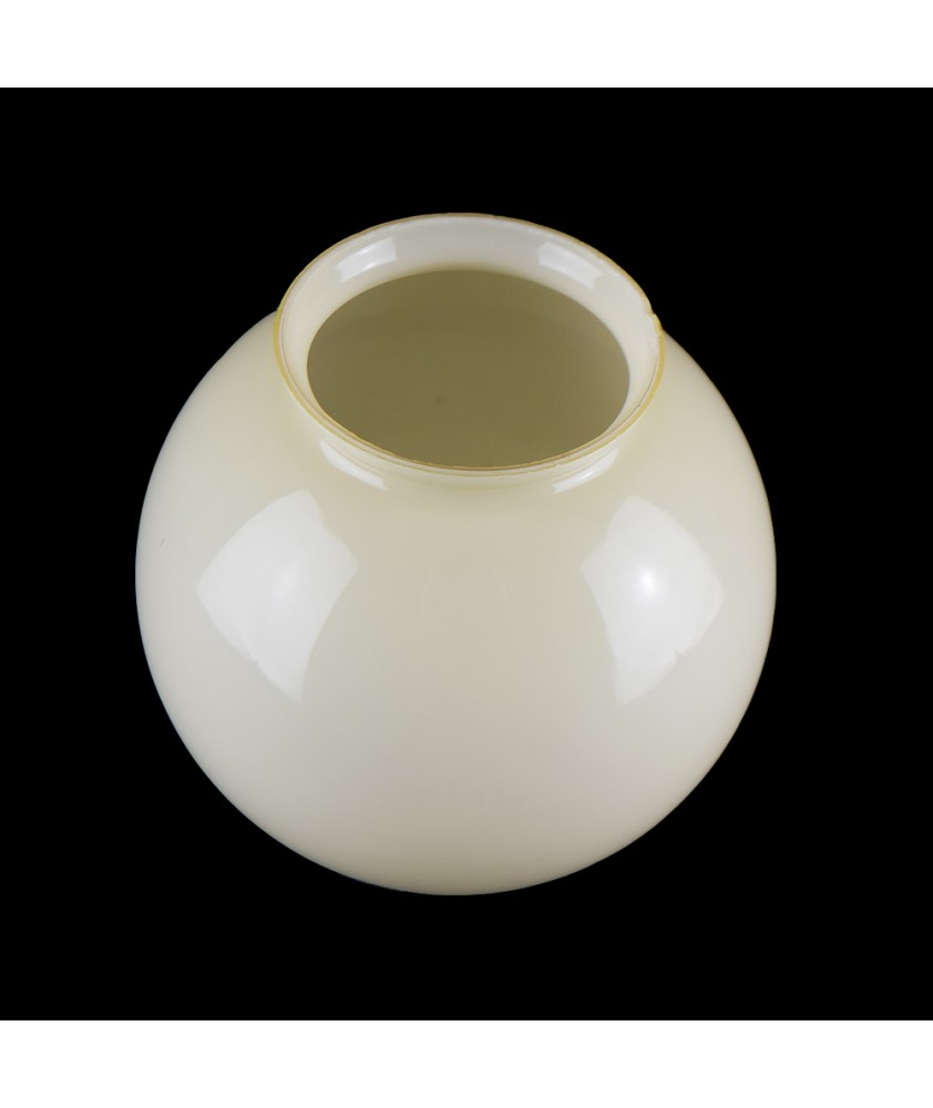 Pale Yellow 50's Style Shade with 100mm Fitter Neck Italian Made