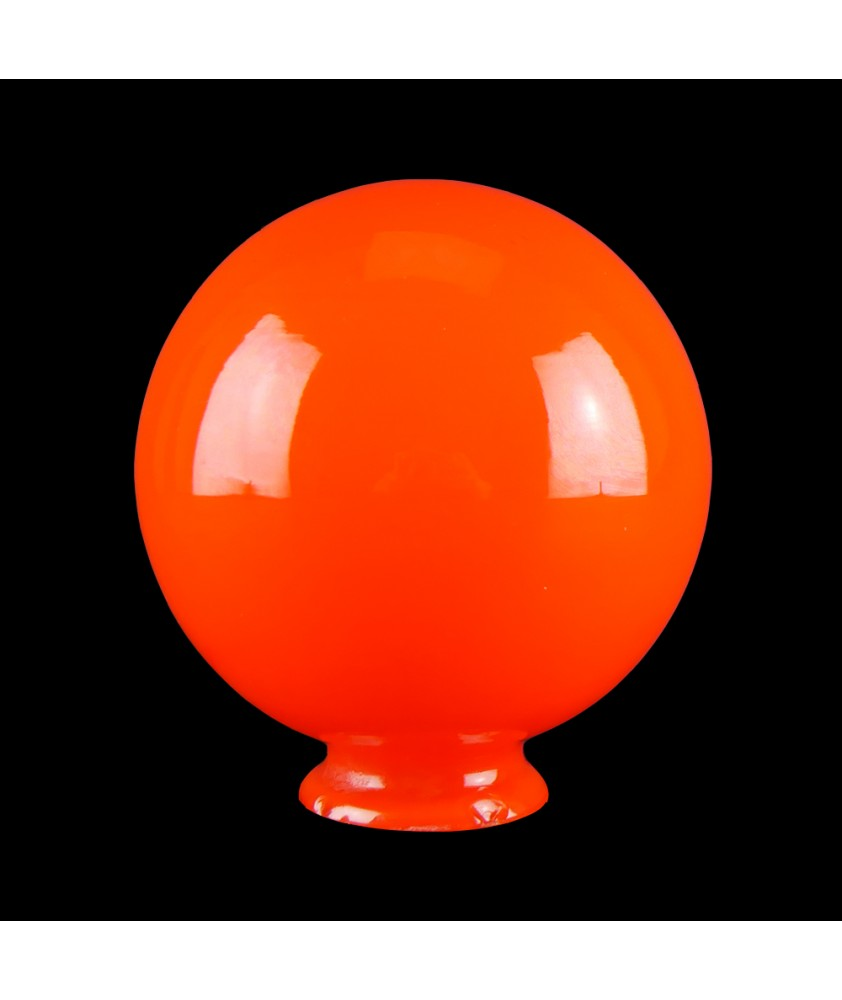 Small Orange Globe Shade with 55mm Fitter Neck