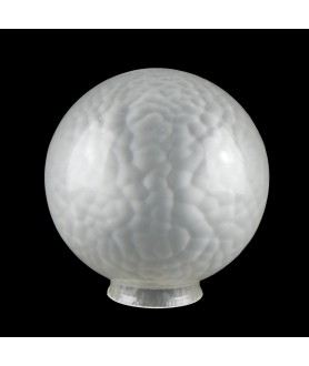 Frosted Globe with Crackle Effect with 80mm Fitter Neck