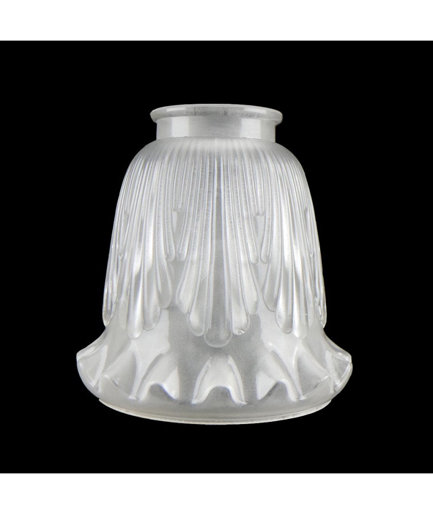 Italian Made Internally Frosted Tulip Light Shade with Classic Motif and 57mm Fitter Neck