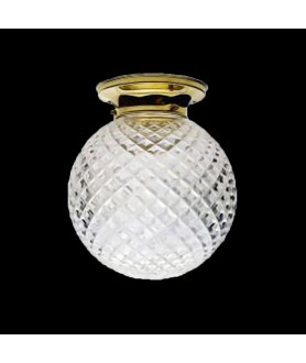 Crystal Cut Flush Ceiling Light