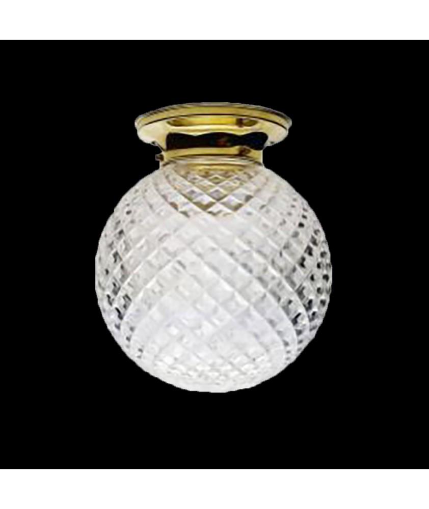Crystal Cut Flush Ceiling Light