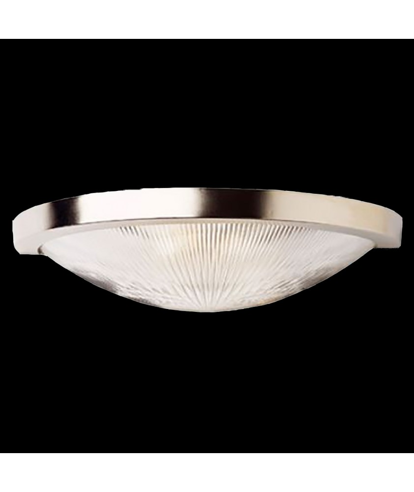 Prismatic Flush Wall/Ceiling Light - Matt Nickel