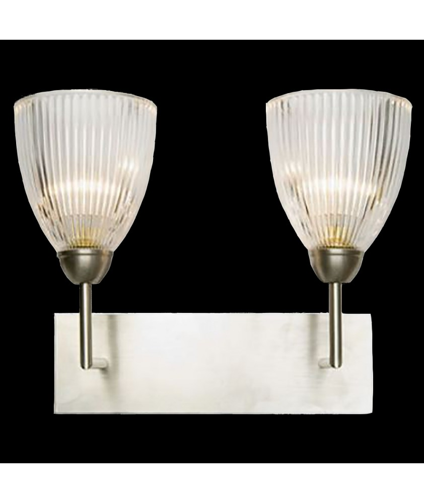 Double Elongated Dome Wall Light