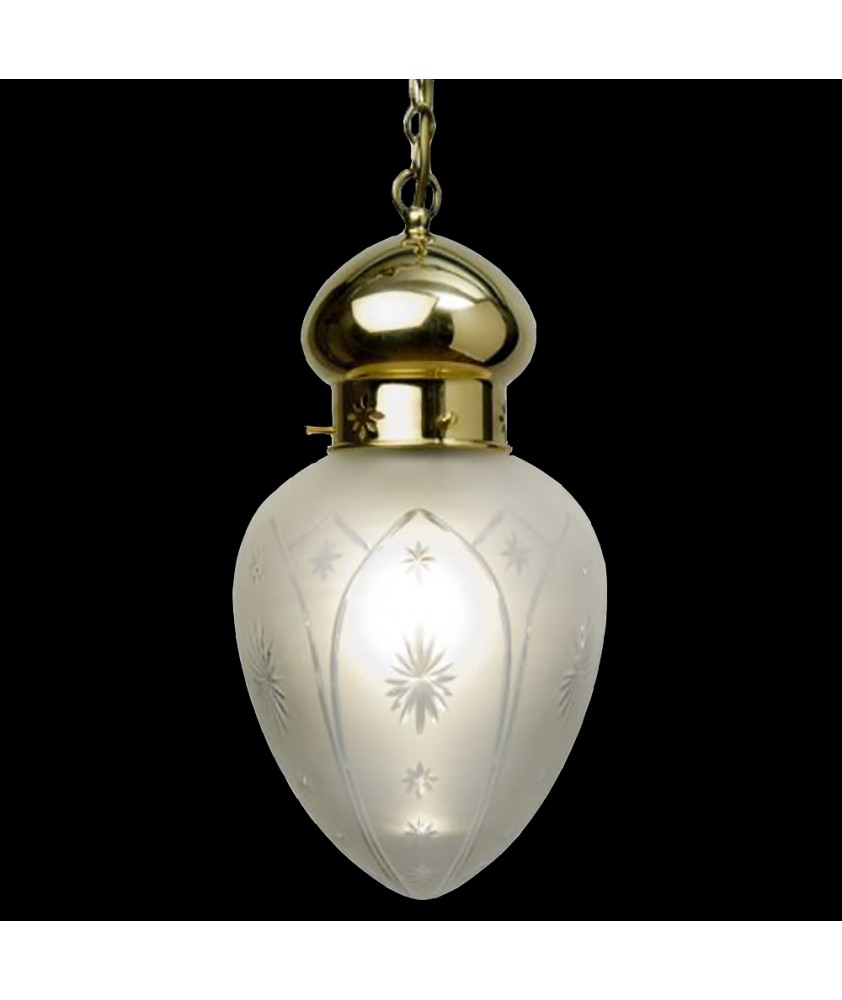 Frosted Acorn Pendant Light