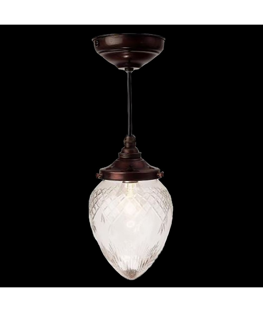Clear Cut  Acorn Pendant Light