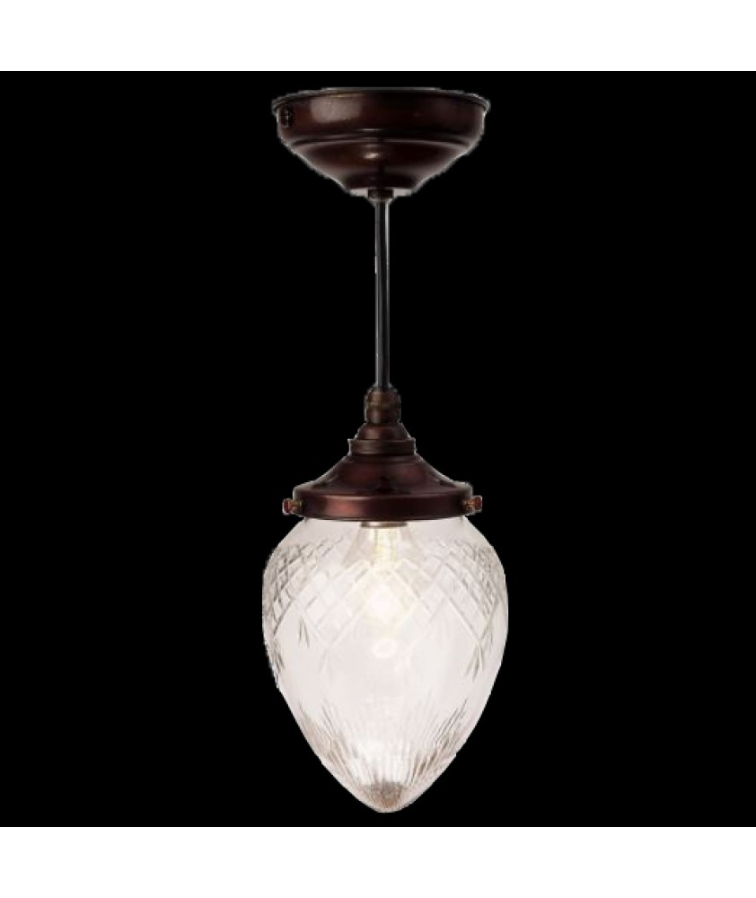 Frosted Mini Acorn Pendant Light
