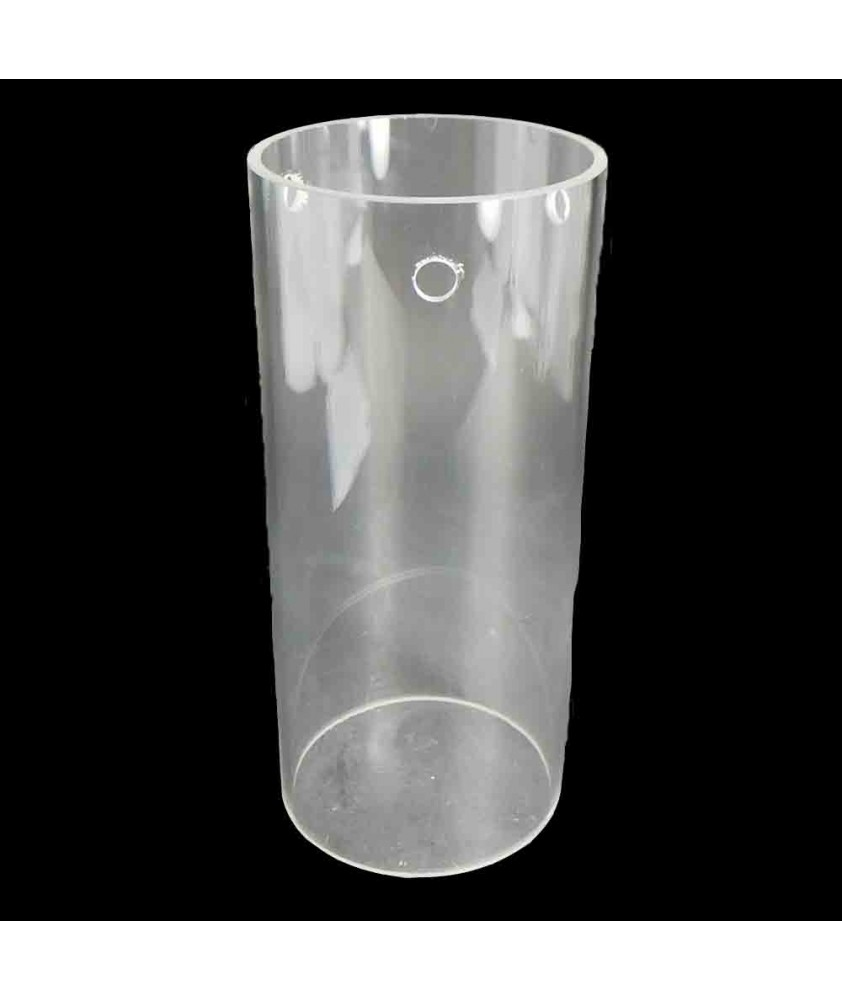 300mm Clear Glass Cylinder Shade with 135mm Diameter and 3 Hole for Fitting