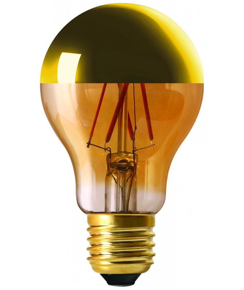 Standard ''CAP'' A60 golden cap LED filament 6W E27 2700K 630lm dim