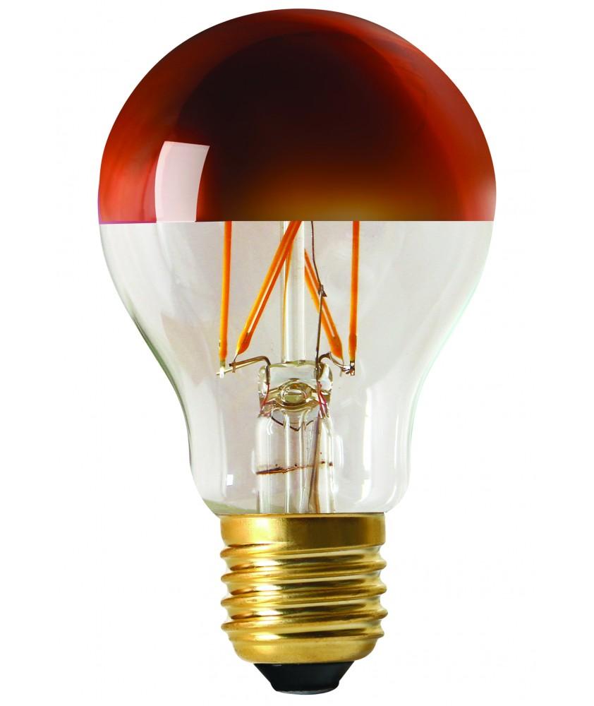 Standard ''CAP'' A60 bronze cap LED filament 6W E27 2700K 750lm dim