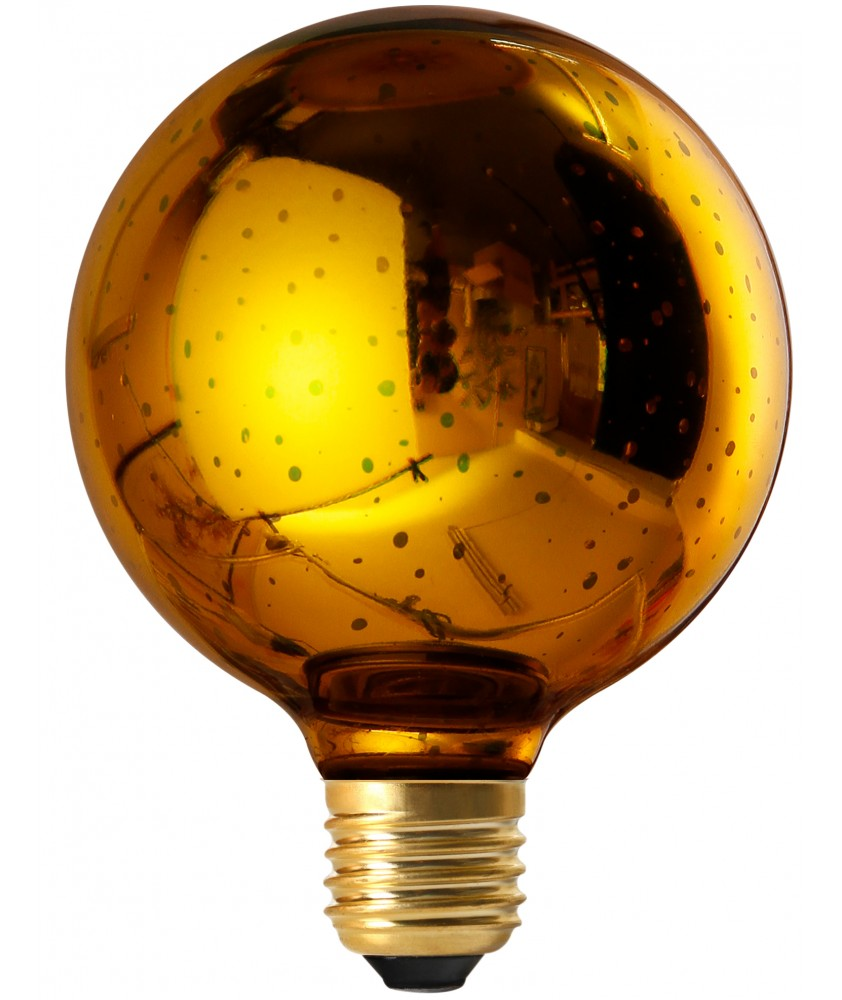 4W Non-Dimmable E27 Globe Cosmos G95 Gold Decorative LED Bulb