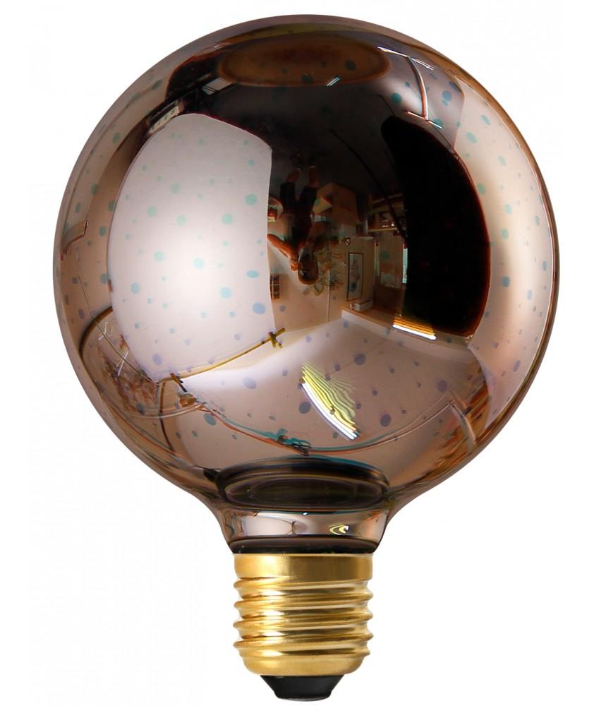 4W Non-Dimmable E27 Globe Cosmos G95 Silver Decorative LED Bulb