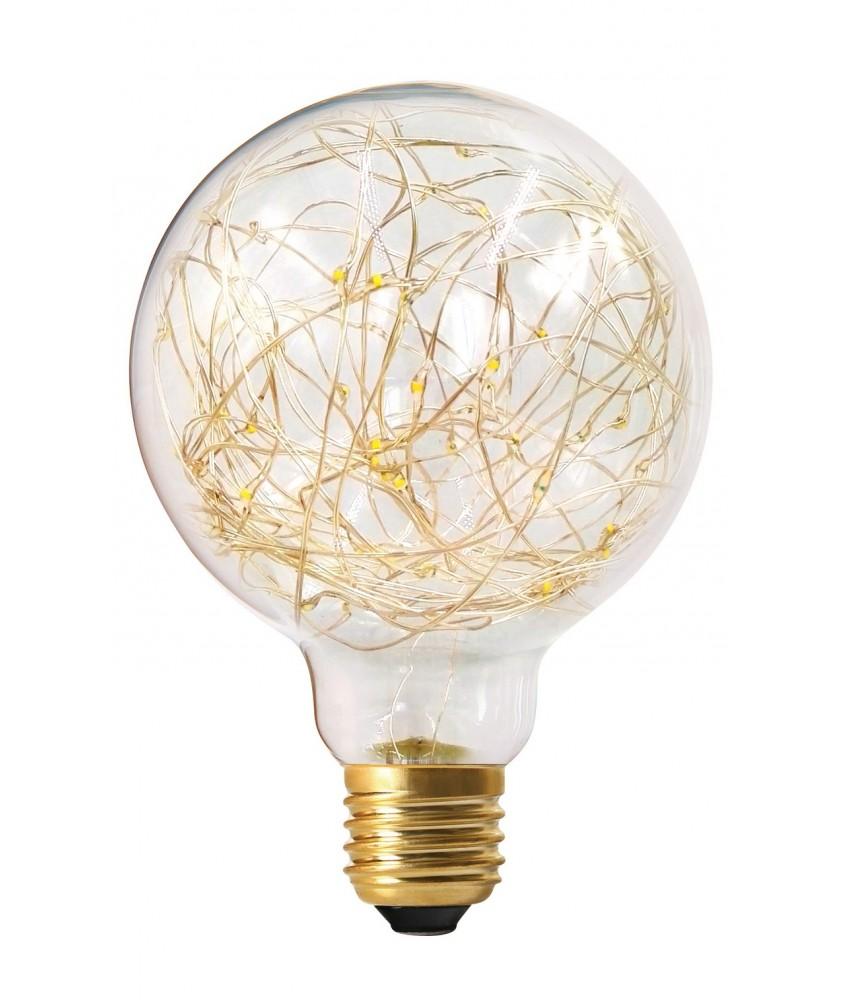 1.5W Non-Dimmable E27 Globe Happy In G95 Clear Decorative LED Warm White