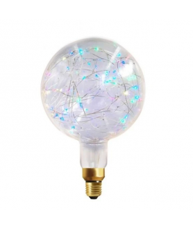 1.5W Non-Dimmable E27 Globe Happy In G200 Clear Decorative LED RGB