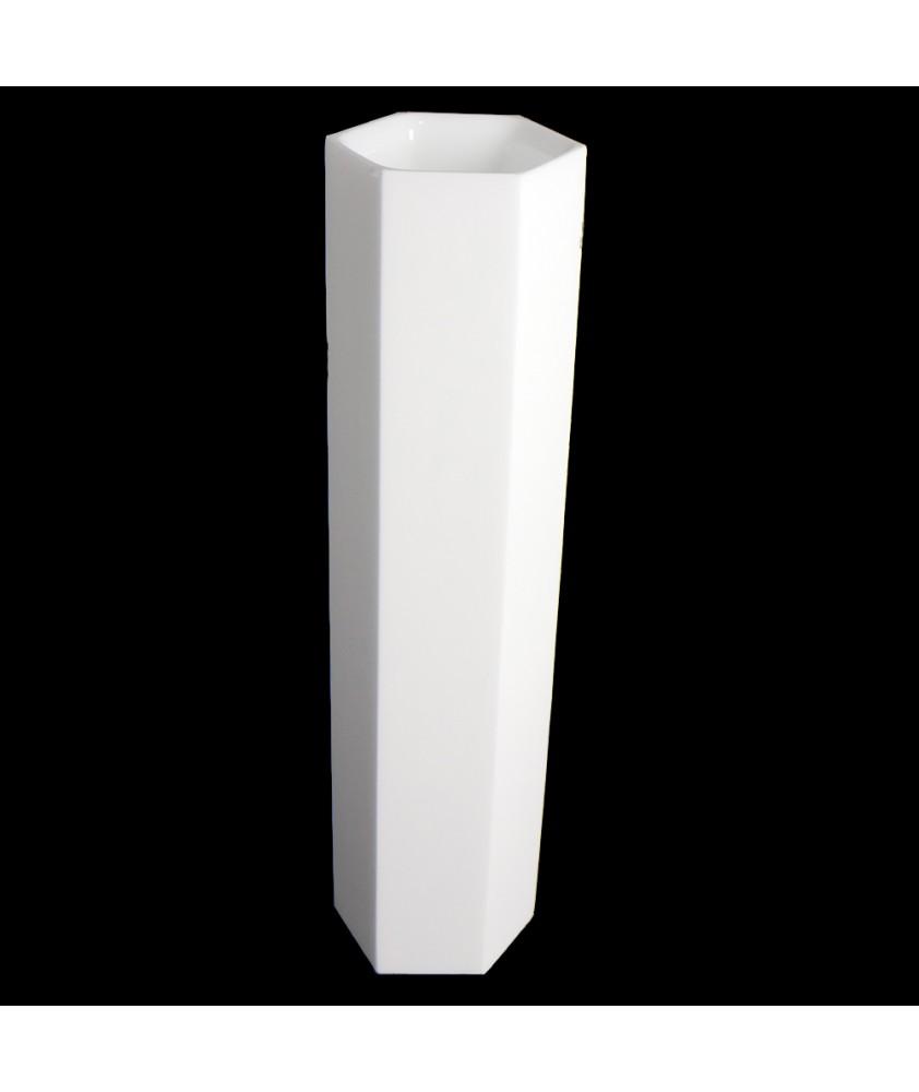 Hexagonal Opal Tube in either 80mm or 50mm Diameter