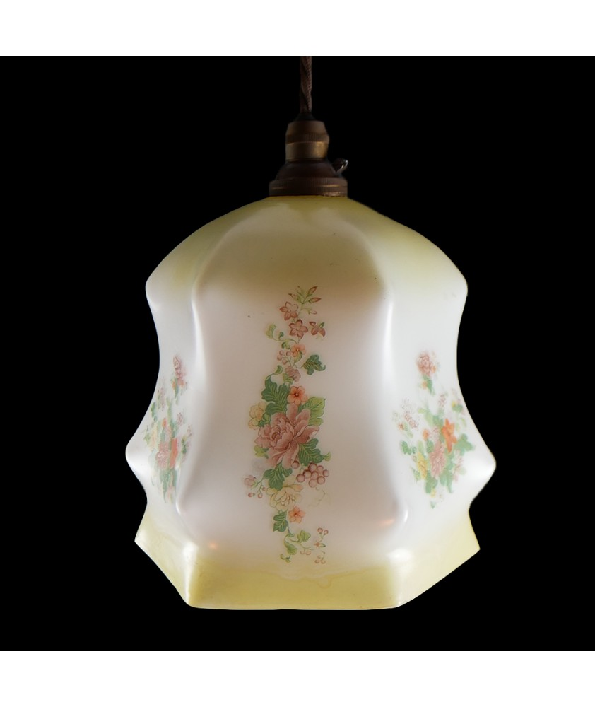 Vintage Yellow Shade (Shade only or Pendant)