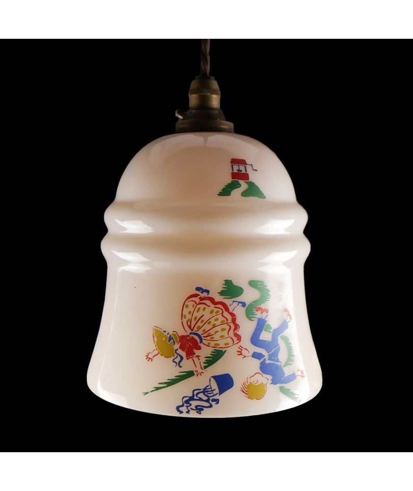 """Vintage Pink """"Jack and Jill"""" Shade (Shade only or Pendant)"""