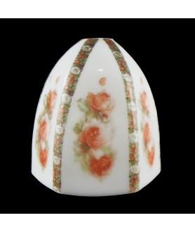 Vintage Shade with Rose Pattern (shade only or Pendant)