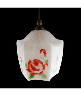 Vintage Rose Shade (Shade only or Pendant)