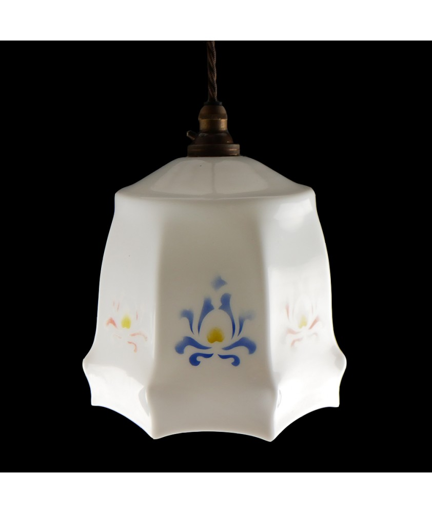 Octagonal Vintage Shade (Shade only or Pendant)