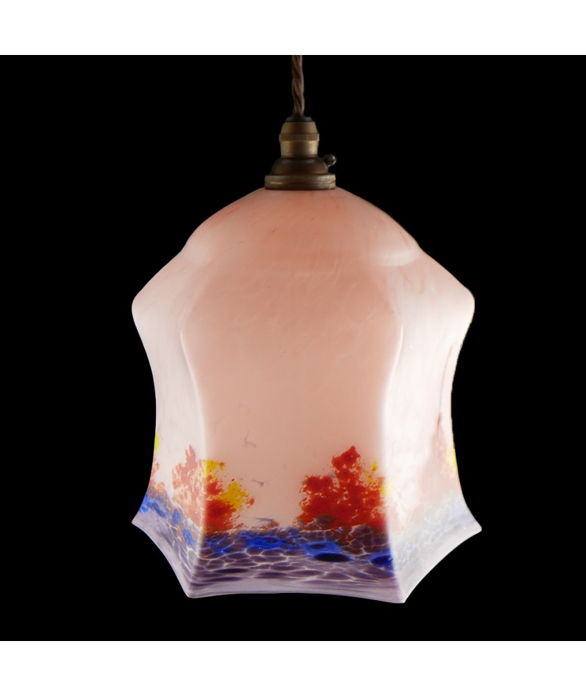 Vintage Impressionist Shade (Shade only or Pendant)