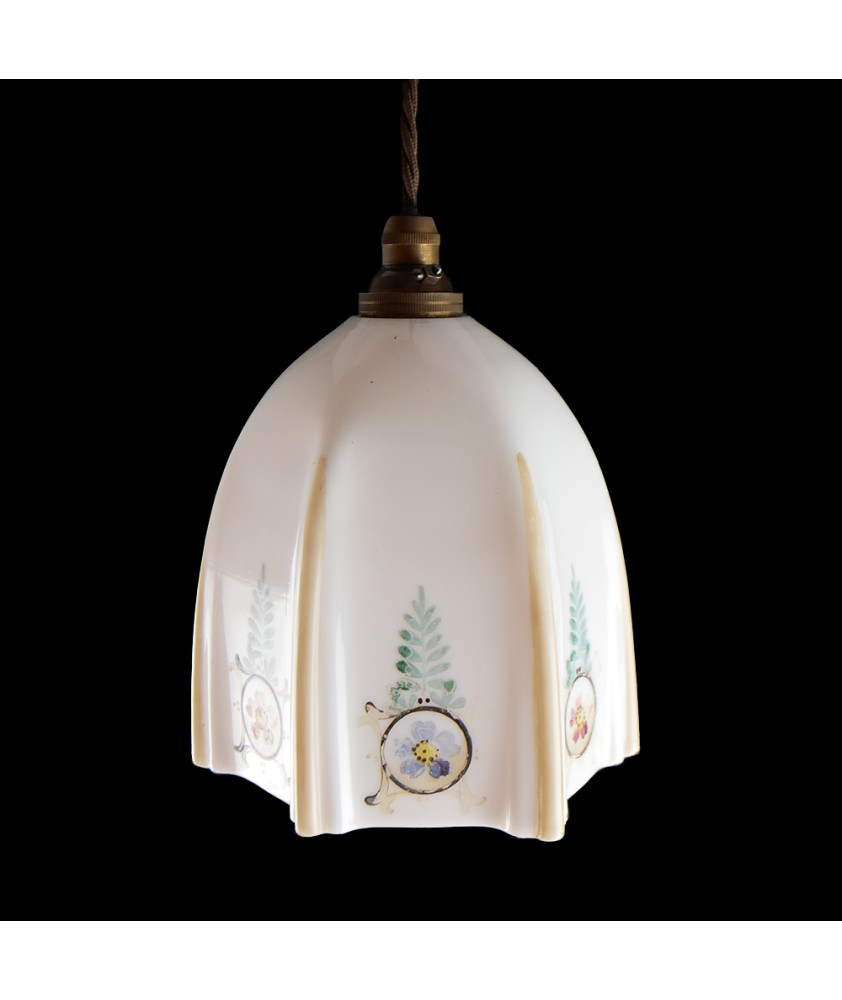 Vintage Shade with Fern Design (Shade only or Pendant)