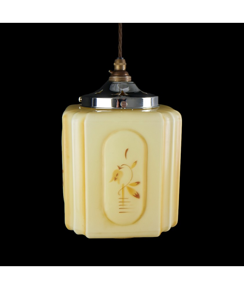 Vintage Square Shade (Shade only or Pendant)