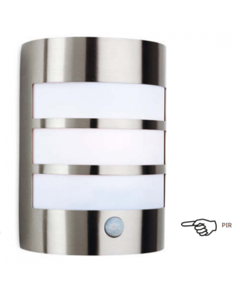Stainless Steel Outdoor Wall Light with PIR