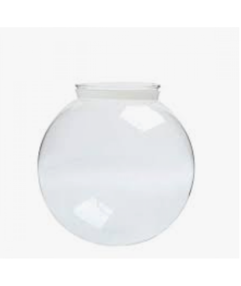 150mm Clear Acrylic Globe with 80mm Fitter Neck