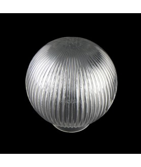 150mm Reeded Globe with 80mm Fitter Neck (Clear or Frosted)