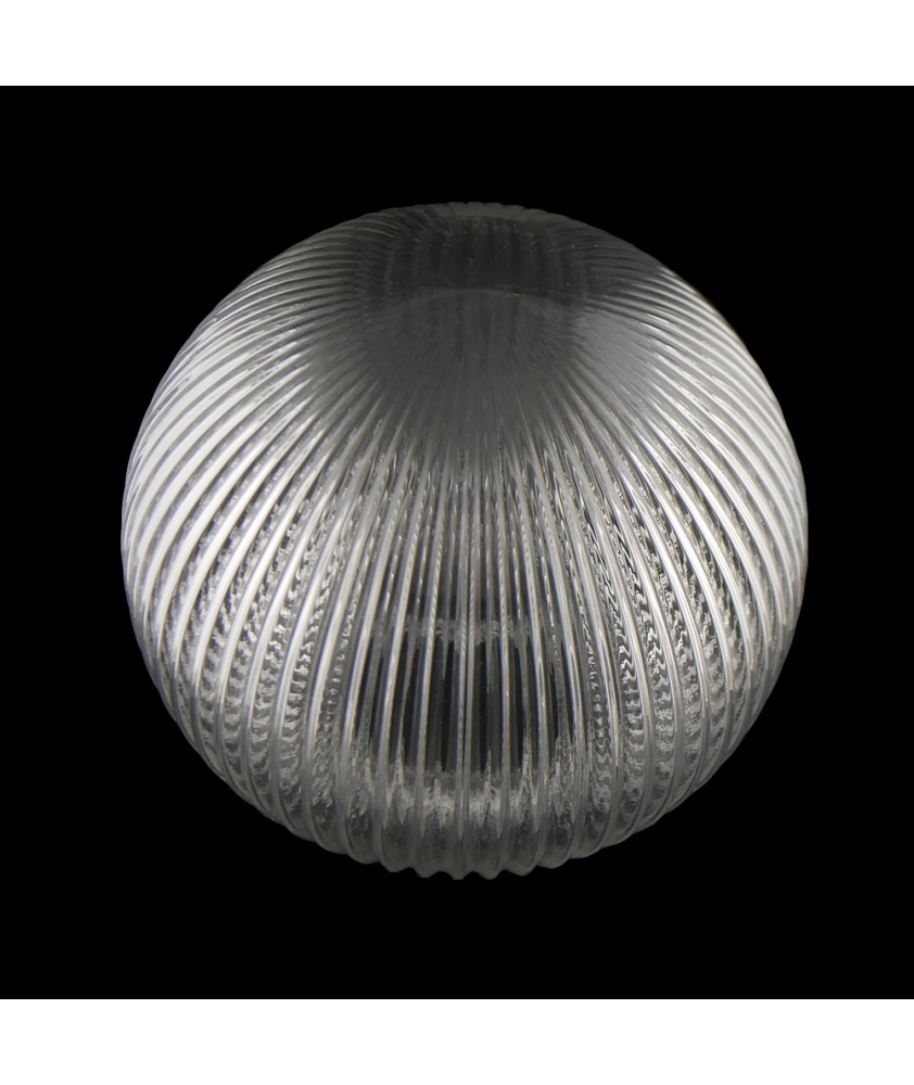200mm Reeded Globe with 80mm Fitter Neck (Clear or Frosted)