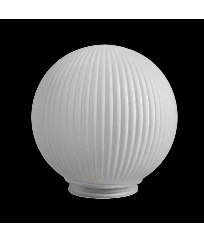 200mm Etched Reeded Prism Globe with 100mm Fitter Neck