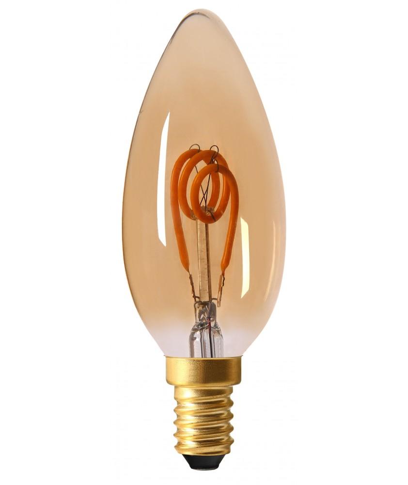 Candle C35 LED filament 3 loops 2W E14 2000K 90lm amb.