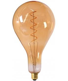 Big bulb twisted LED filament 290mm 6W E27 2000K 300lm 162 x 290mm amb. dim.