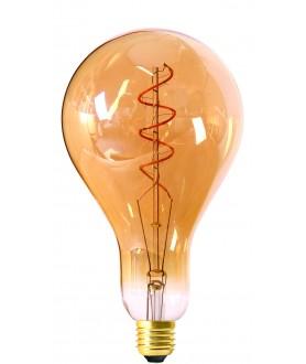 Big bulb twisted LED filament 240mm 4W E27 2000K 200lm 130 x 240mm amb. dim.