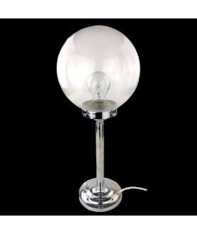 Art Deco Lamp with Clear Globe  Shade