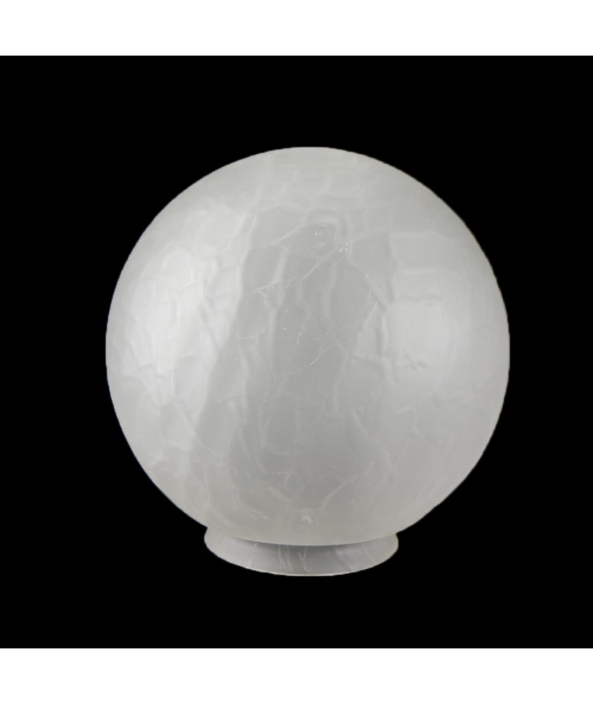 200mm Frosted Crackle Globe with 100mm Fitter Neck