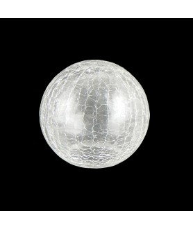 80mm Art Deco Crackle Globe Light Shade with 40mm Fitter Hole